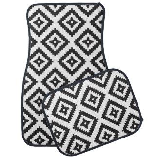 Tapis De Voiture Motif moderne chic géométrique blanc noir