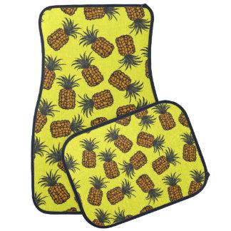 Tapis De Voiture motif tropical peint à la main coloré d'ananas