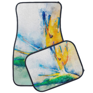 Tapis De Voiture Oiseau d'art d'aquarelle de paradis