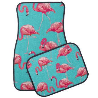 Tapis De Voiture Oiseaux roses de flamant sur l'arrière - plan de