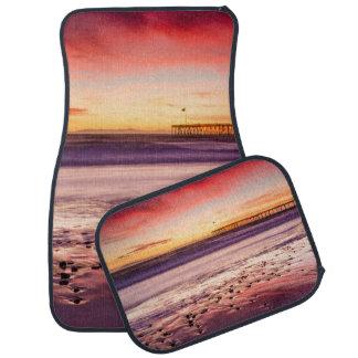Tapis De Voiture Paysage marin et pilier au coucher du soleil, CA