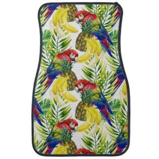 Tapis De Voiture Perroquets et fruit tropical