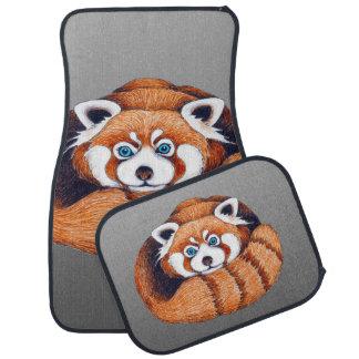 Tapis De Voiture Petit panda rouge sur le gris