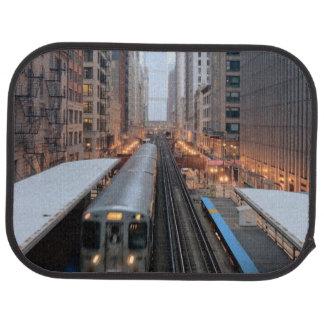 Tapis De Voiture Rail élevé Chicago du centre au-dessus de Wabash