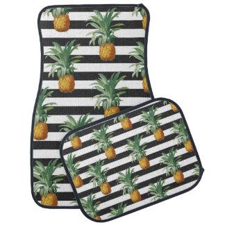 Tapis De Voiture rayures d'ananas grises