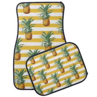 Tapis De Voiture rayures jaunes de pinepples