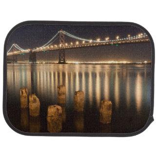 Tapis De Voiture Réflexions de nuit de pont de baie d'Oakland