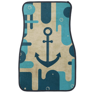 Tapis De Voiture Rétro conception nautique turquoise d'ancre