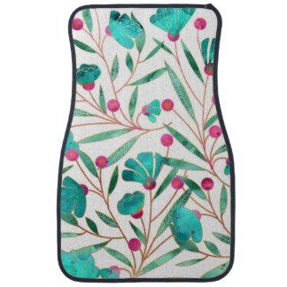 Tapis De Voiture Turquoise florale