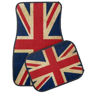 Tapis De Voiture Vieux drapeau grunge vintage Union Jack du