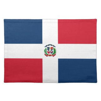 Tapis d'endroit de drapeau de la République Domini Sets De Table