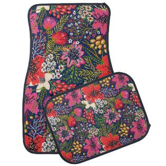 Tapis floral lumineux vintage de plancher de