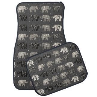 Tapis gris de voiture d'impression d'éléphant tapis de voiture