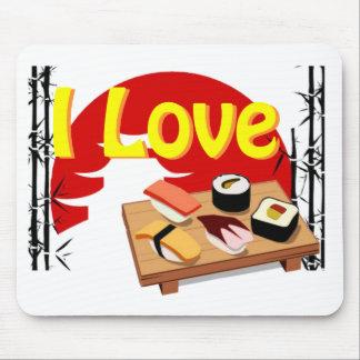 Tapis I Love Sushis Tapis De Souris