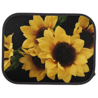 Tapis jaunes de plancher de tournesols tapis de voiture