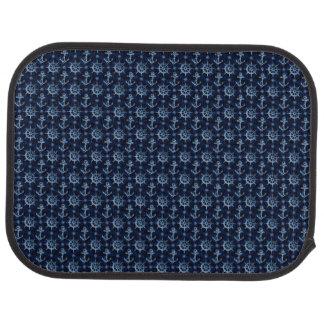 Tapis nautique bleu de voiture d'arrière de motif tapis de sol