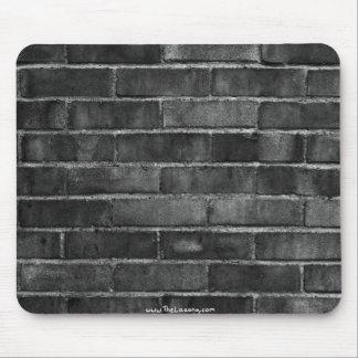 tapis noir et blanc de souris de texture de mur de tapis de souris