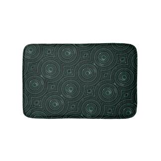 Tapis noir et vert tapis de bain