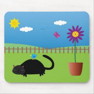 Tapis paresseux de souris de jour tapis de souris