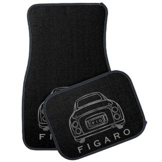 Tapis personnalisés de voiture de Figaro, ensemble Tapis De Sol