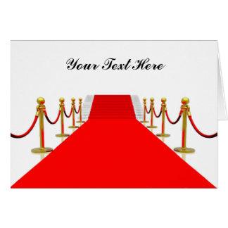 Tapis rouge personnalisable carte de vœux