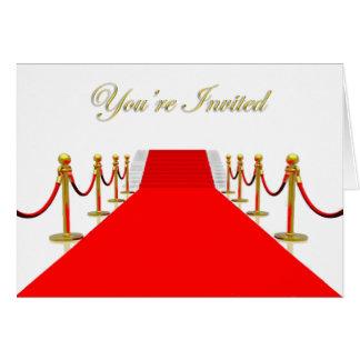 Tapis rouge vous êtes invités carte de vœux