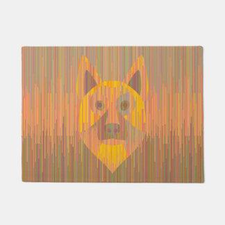 Tapis sérieux coloré de chien jaune