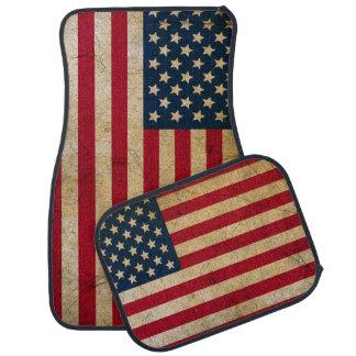 Tapis vintage de plancher de voiture de drapeau