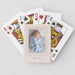 Tapis vintage des années 1940 avec l'insertion cartes à jouer
