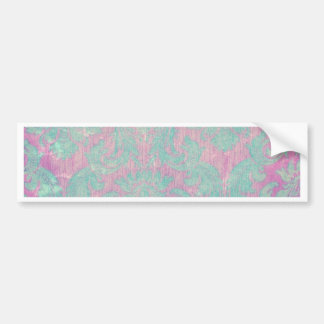 tapisserie chic rose turquoise de nouveau vintage  adhésif pour voiture