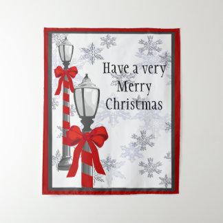 Tapisserie de courrier de lampe de Joyeux Noël