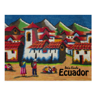 Tapisserie typique de l'Equateur Otavalo Carte Postale