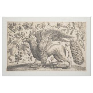 Tapisserie vintage de botanique de mythologie tissu