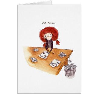 Tarjeta de Gracias Carte De Vœux