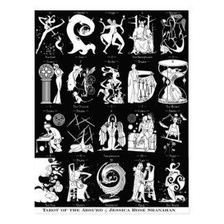 Tarot de l'absurde - carte postale