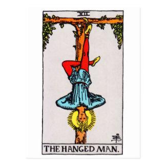 tarot-hangedman carte postale