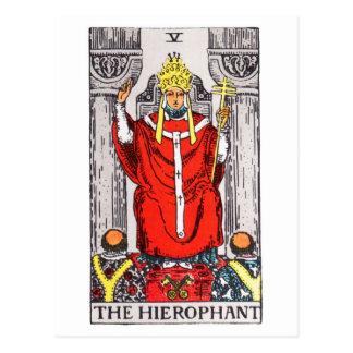 tarot-hierophant carte postale