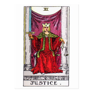tarot-justice cartes postales