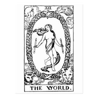 Tarot 'le worl'd carte postale