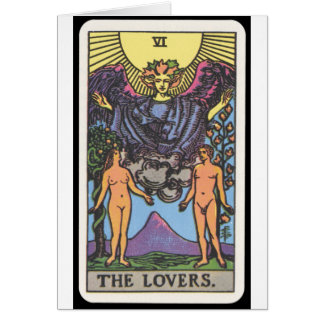 Tarot : Les amants Carte De Vœux