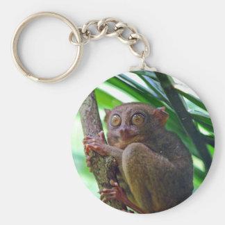 Tarsier philippin minuscule porte-clé rond