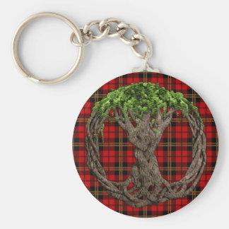 Tartan de Brodie de clan et arbre de Celtc de la v Porte-clé Rond