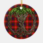 Tartan de Fraser de clan et arbre de la vie celtiq Ornement De Noël
