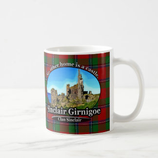 Tartan de Sinclair Girnigoe de château de Sinclair Mug