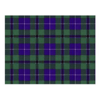 Tartan d'écossais de Douglas Cartes Postales