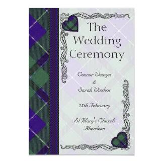 Tartan d'écossais de Douglas Carton D'invitation 12,7 Cm X 17,78 Cm