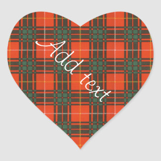 Tartan d'écossais de plaid de clan de Crosby Sticker Cœur