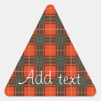 Tartan d'écossais de plaid de clan de Crosby Sticker Triangulaire