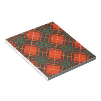 Tartan d'écossais de plaid de clan de Crosby Blocs Mémo