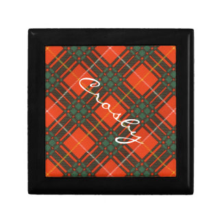 Tartan d'écossais de plaid de clan de Crosby Petite Boîte À Bijoux Carrée